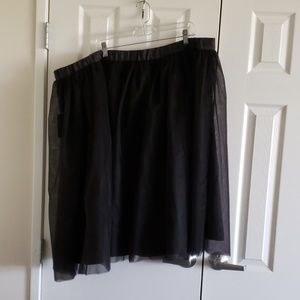 NWT ELOQUII black double tulle skirt back lining38